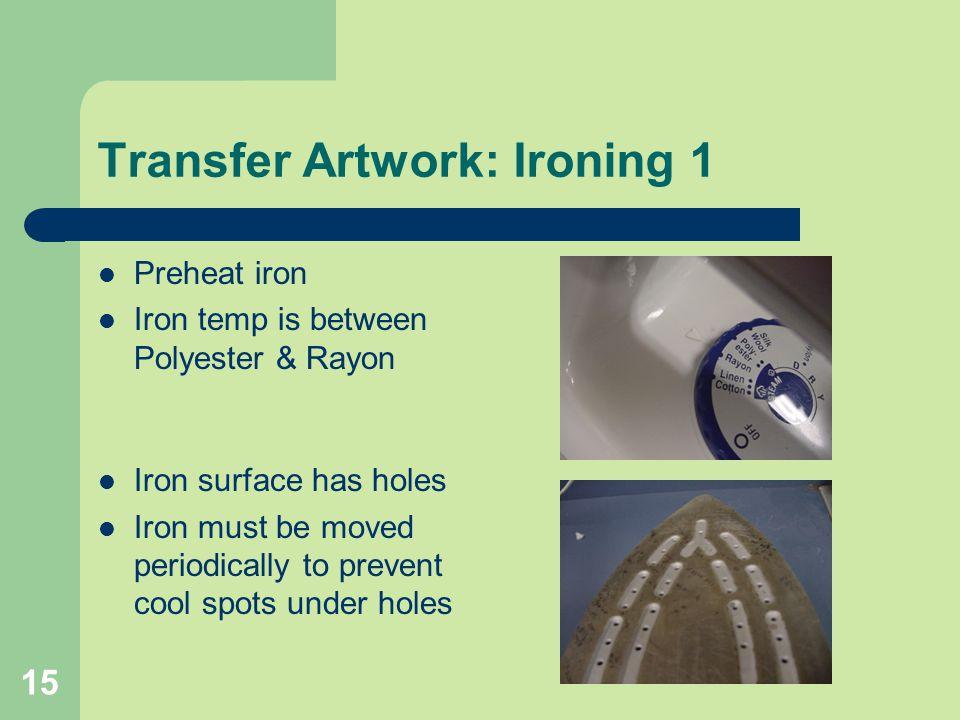 Transfer Artwork: Ironing 1