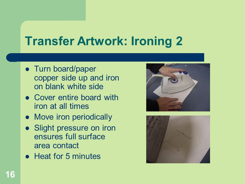 Transfer Artwork: Ironing 2