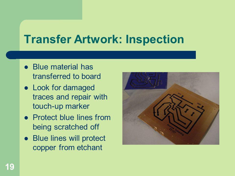Transfer Artwork: Inspection