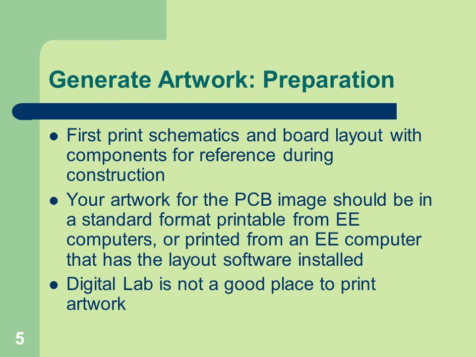 Generate Artwork: Preparation