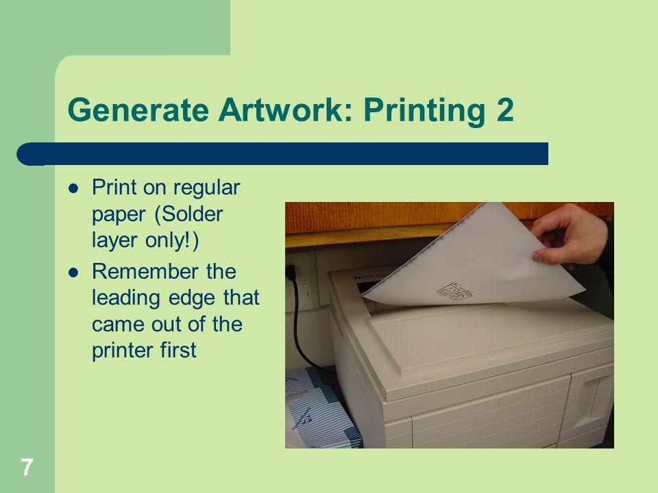 Generate Artwork: Printing 2