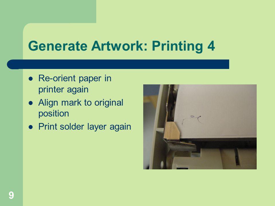 Generate Artwork: Printing 4