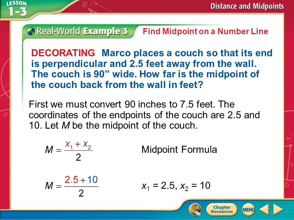 Find Midpoint on a Number Line