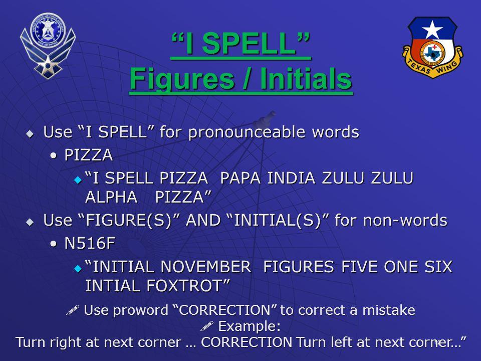 I SPELL Figures / Initials