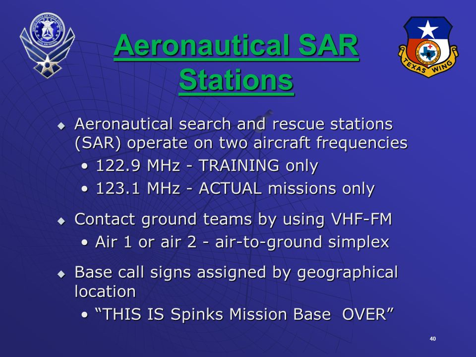 Aeronautical SAR Stations