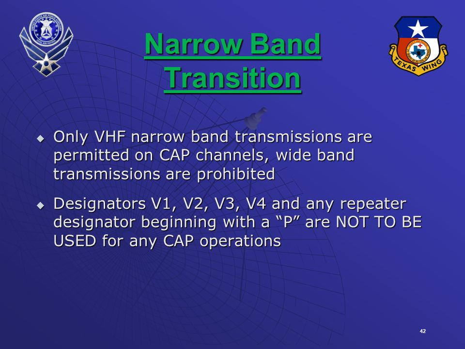 Narrow Band Transition