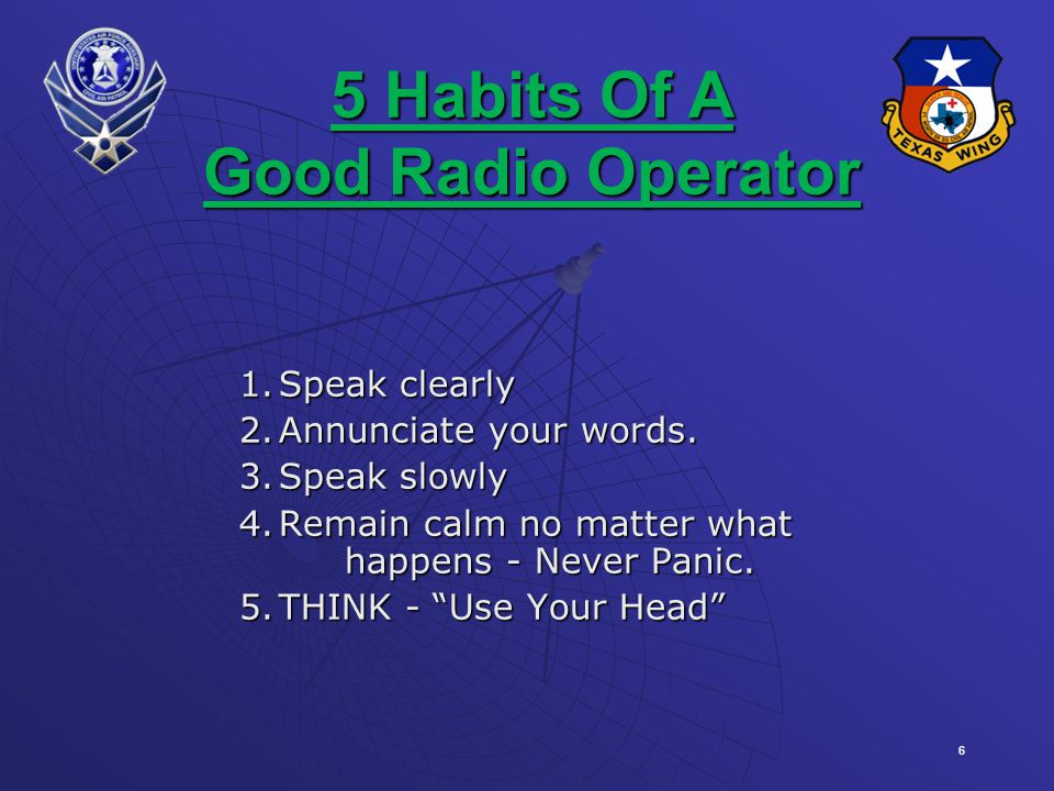 5 Habits Of A Good Radio Operator