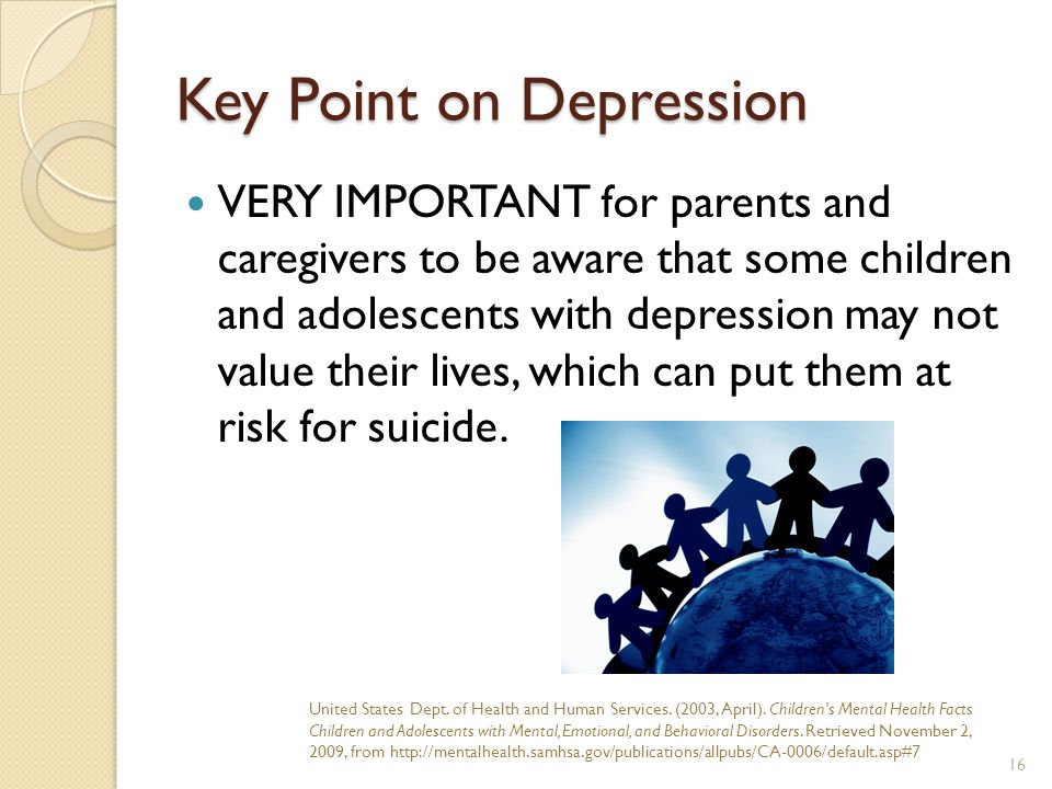 Key Point on Depression
