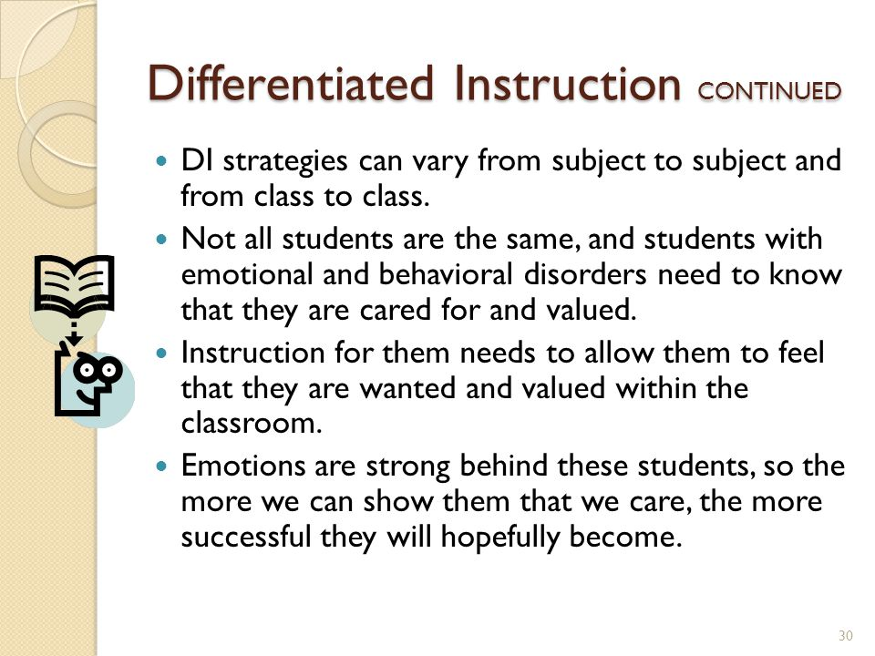 Differentiated Instruction CONTINUED