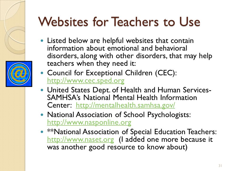 Websites for Teachers to Use