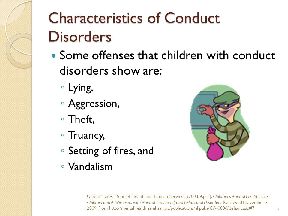 Characteristics of Conduct Disorders