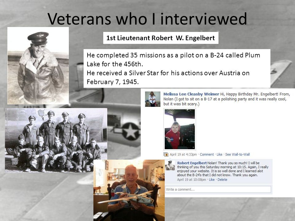 Veterans who I interviewed