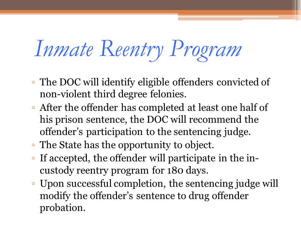 Inmate Reentry Program