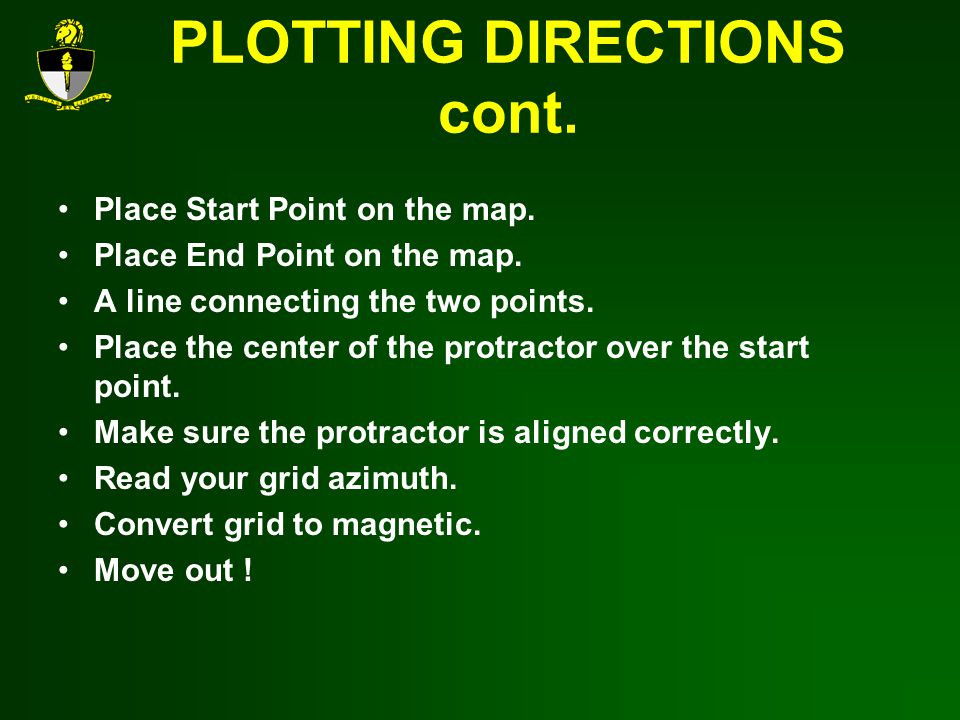 PLOTTING DIRECTIONS cont.