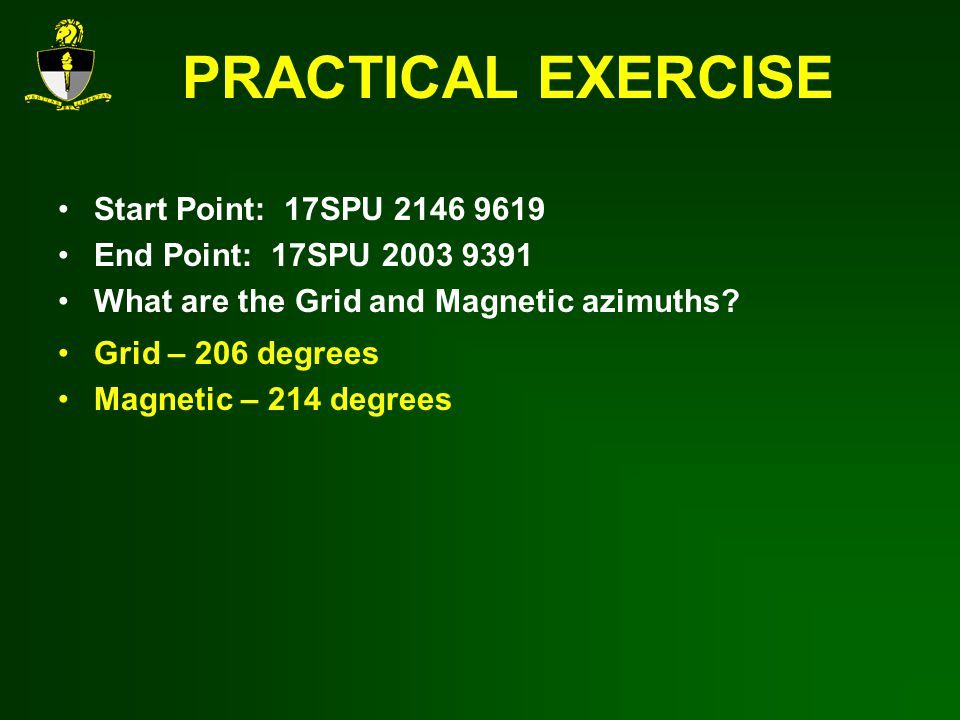 PRACTICAL EXERCISE Start Point: 17SPU 2146 9619