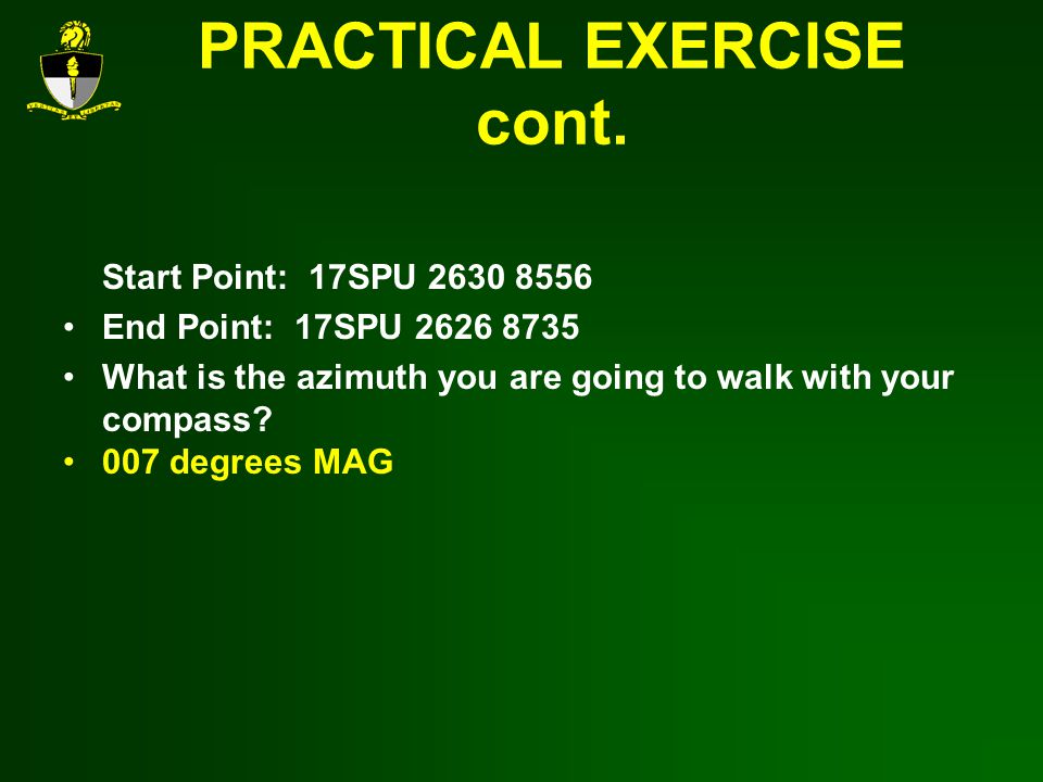 PRACTICAL EXERCISE cont.