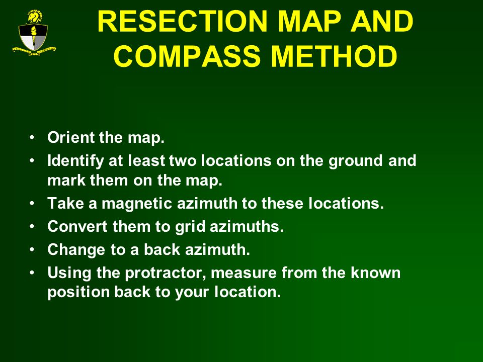 RESECTION MAP AND COMPASS METHOD