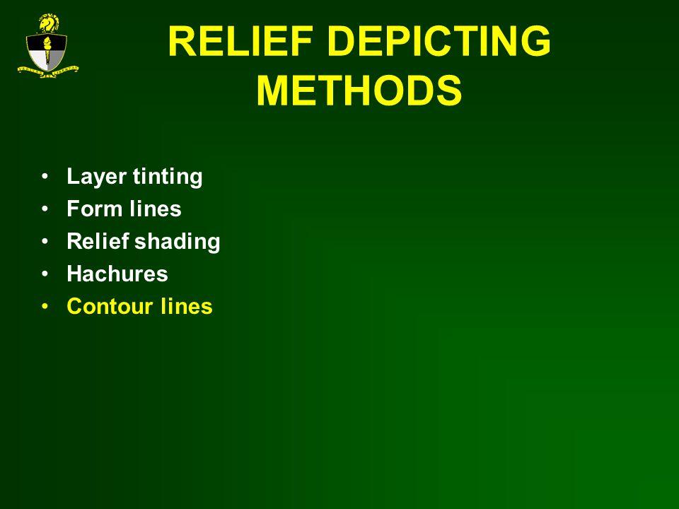 RELIEF DEPICTING METHODS