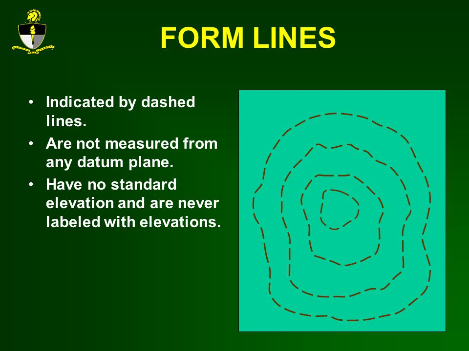 FORM LINES Indicated by dashed lines.