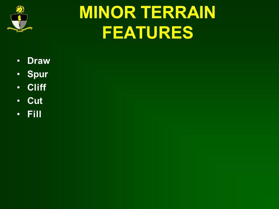 MINOR TERRAIN FEATURES