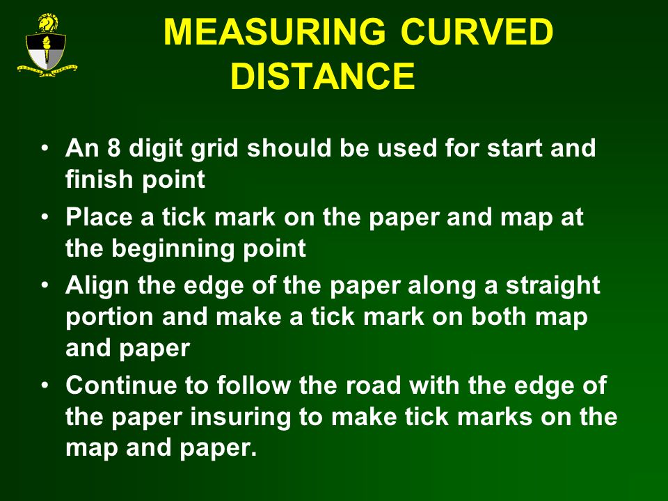 MEASURING CURVED DISTANCE