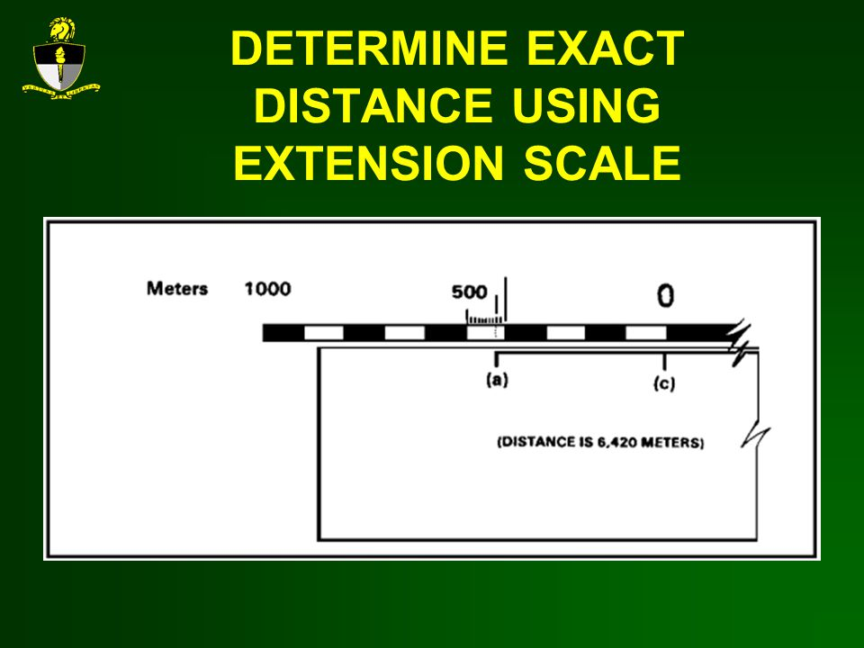 DETERMINE EXACT DISTANCE USING EXTENSION SCALE