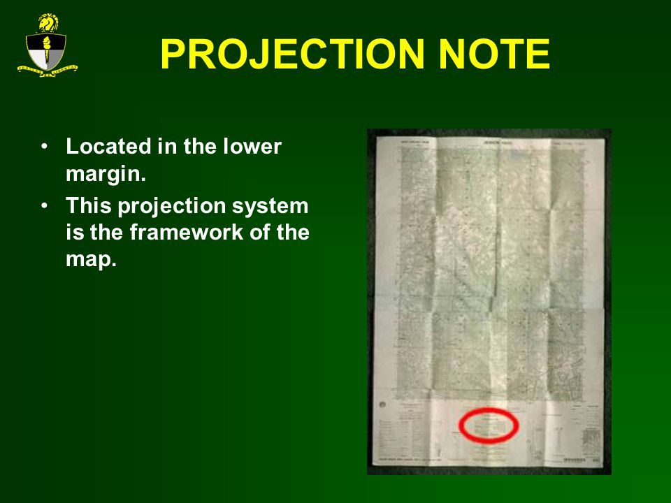 PROJECTION NOTE Located in the lower margin.