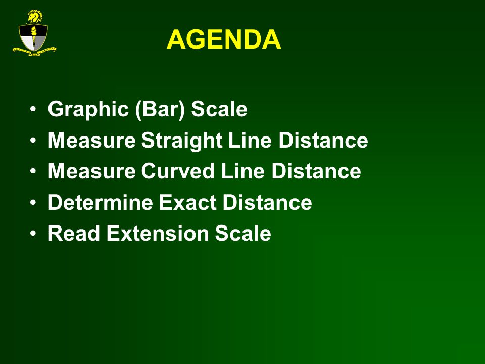 AGENDA Graphic (Bar) Scale Measure Straight Line Distance