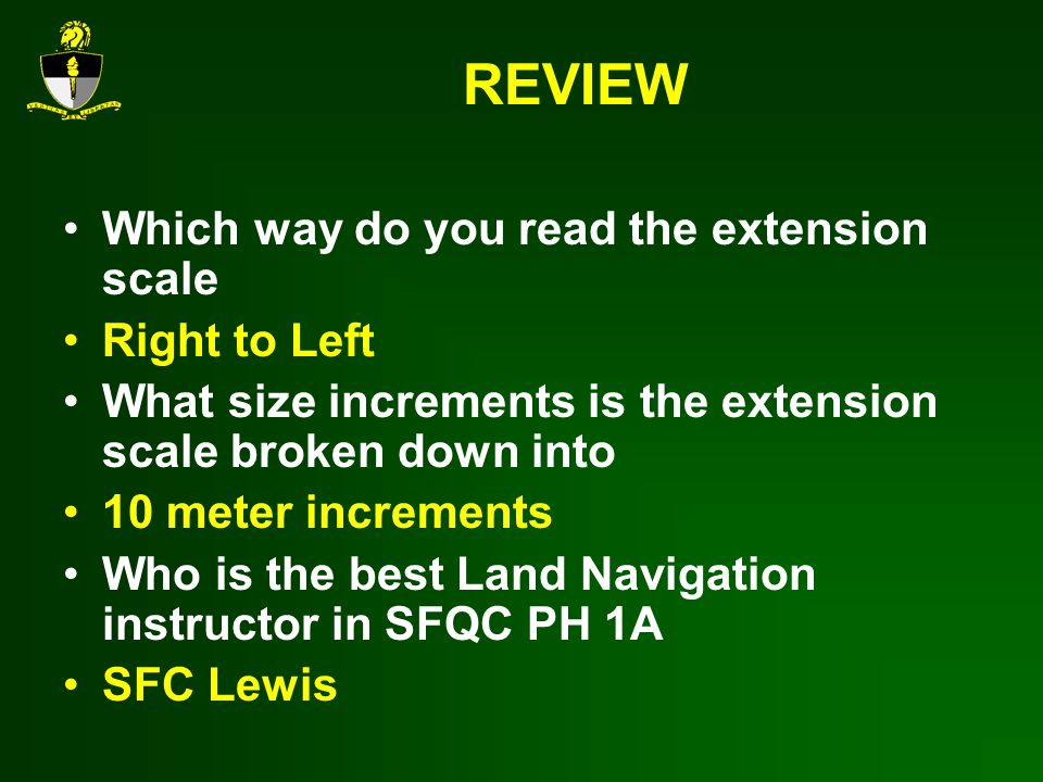 REVIEW Which way do you read the extension scale Right to Left