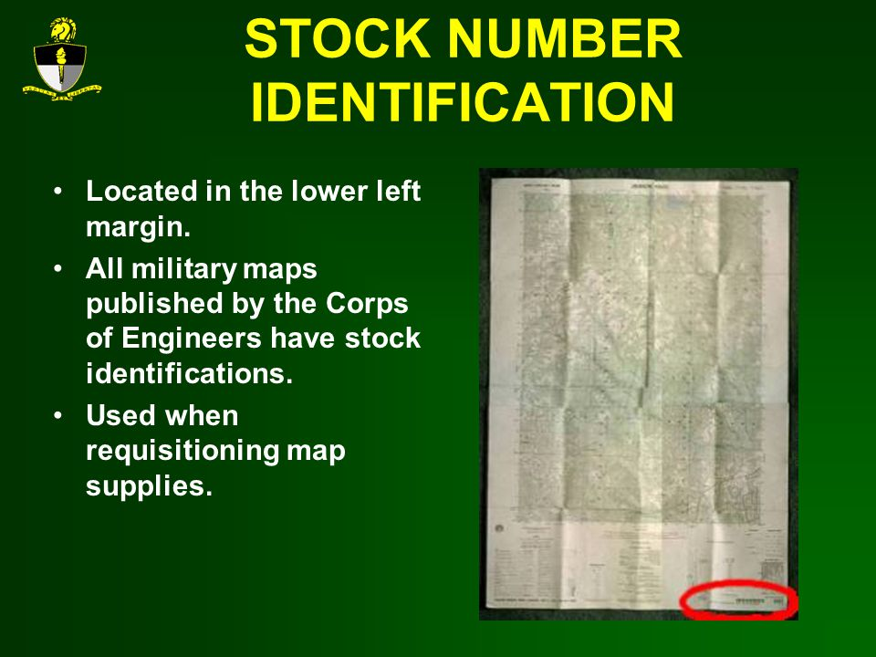 STOCK NUMBER IDENTIFICATION