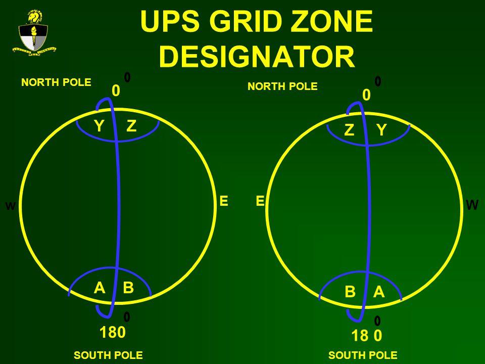 UPS GRID ZONE DESIGNATOR