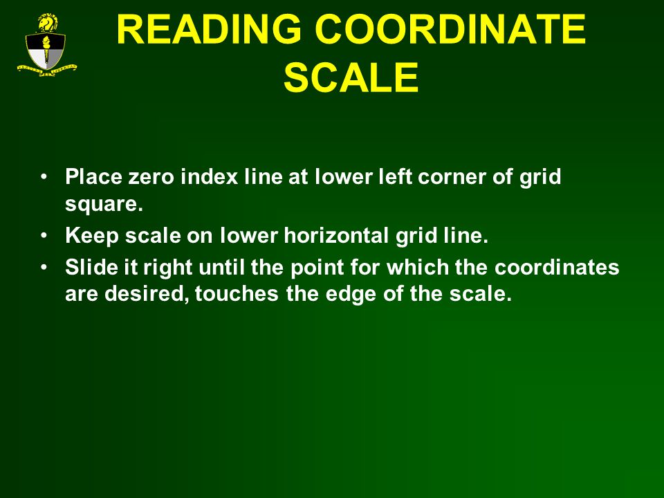 READING COORDINATE SCALE
