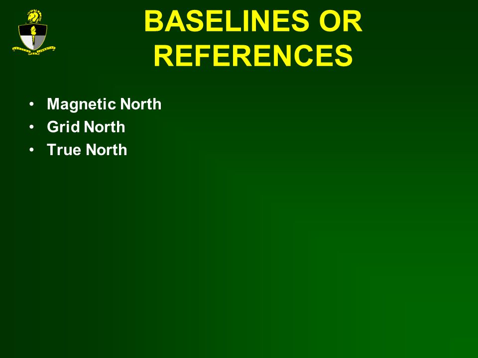 BASELINES OR REFERENCES