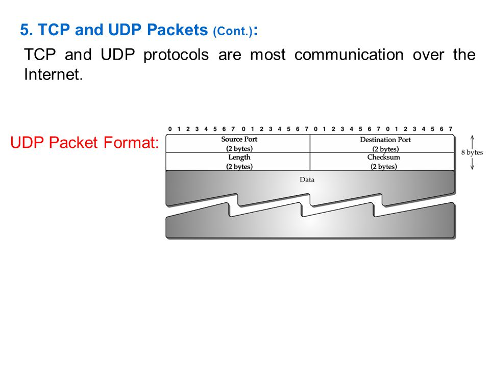 5. TCP and UDP Packets (Cont.):