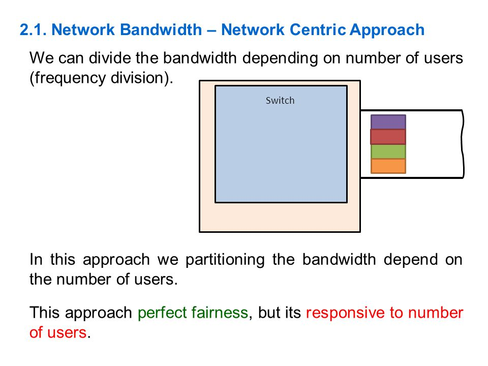 2.1. Network Bandwidth – Network Centric Approach