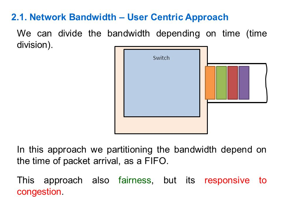 2.1. Network Bandwidth – User Centric Approach