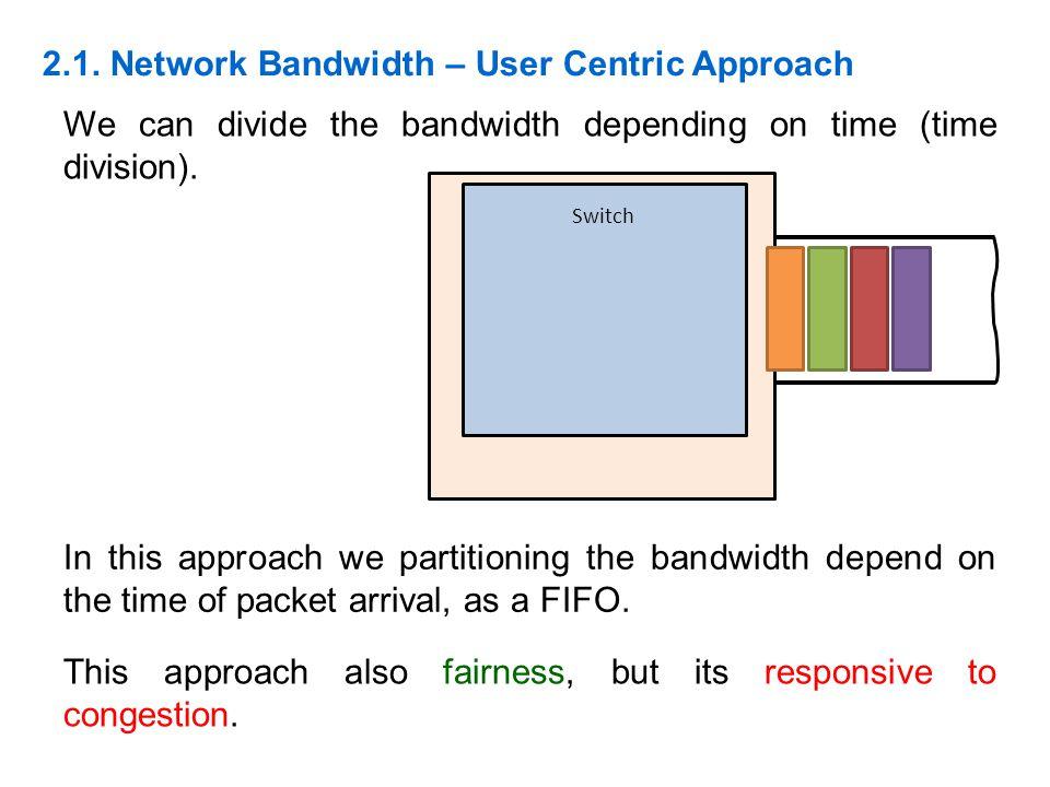 2.1. Network Bandwidth – User Centric Approach