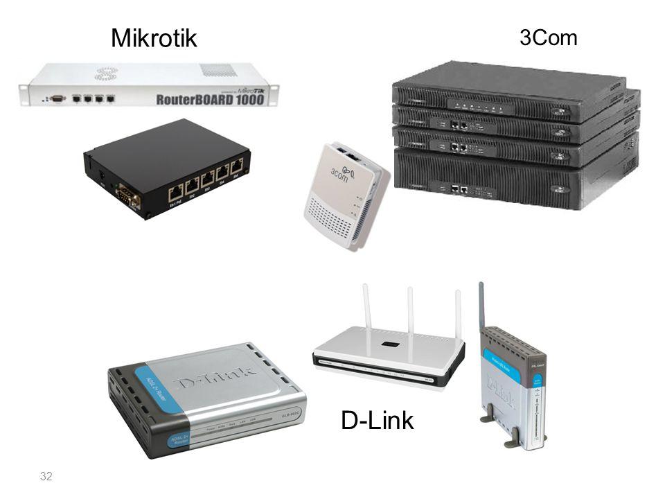 Mikrotik 3Com D-Link