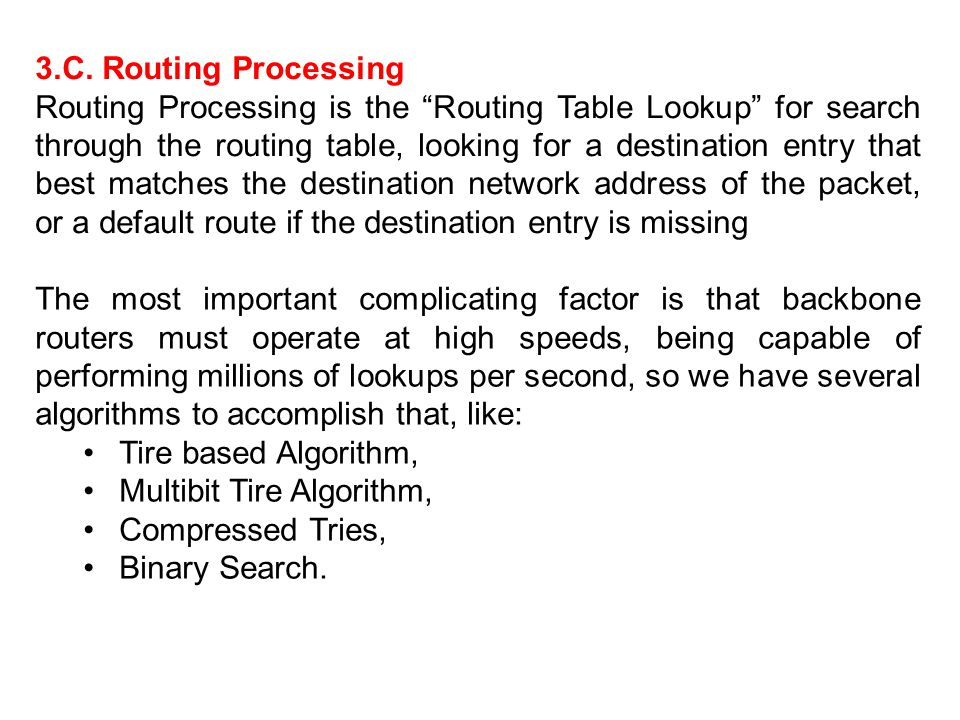 3.C. Routing Processing