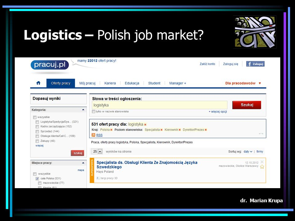 Logistics – Polish job market