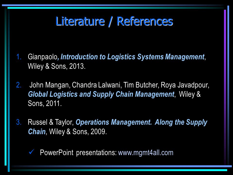 Literature / References