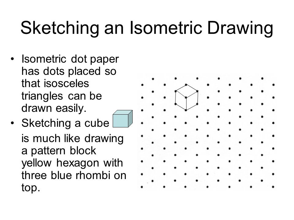 Sketching an Isometric Drawing