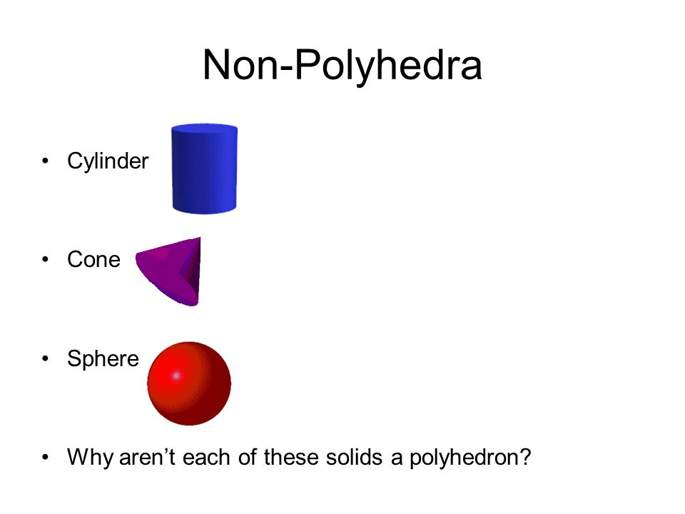 Non-Polyhedra Cylinder Cone Sphere