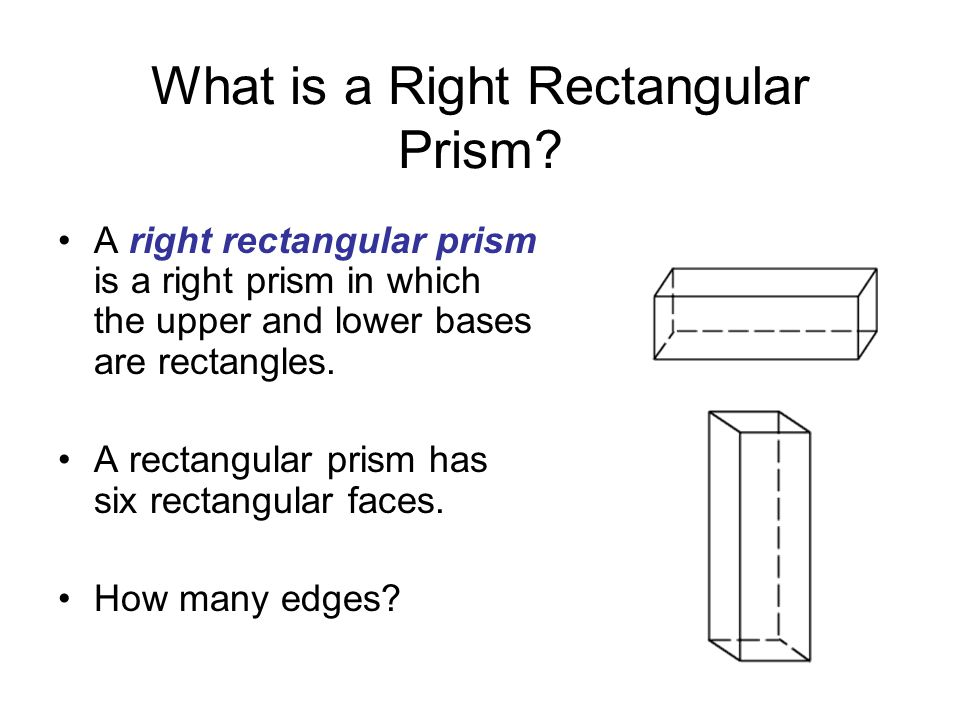 What is a Right Rectangular Prism