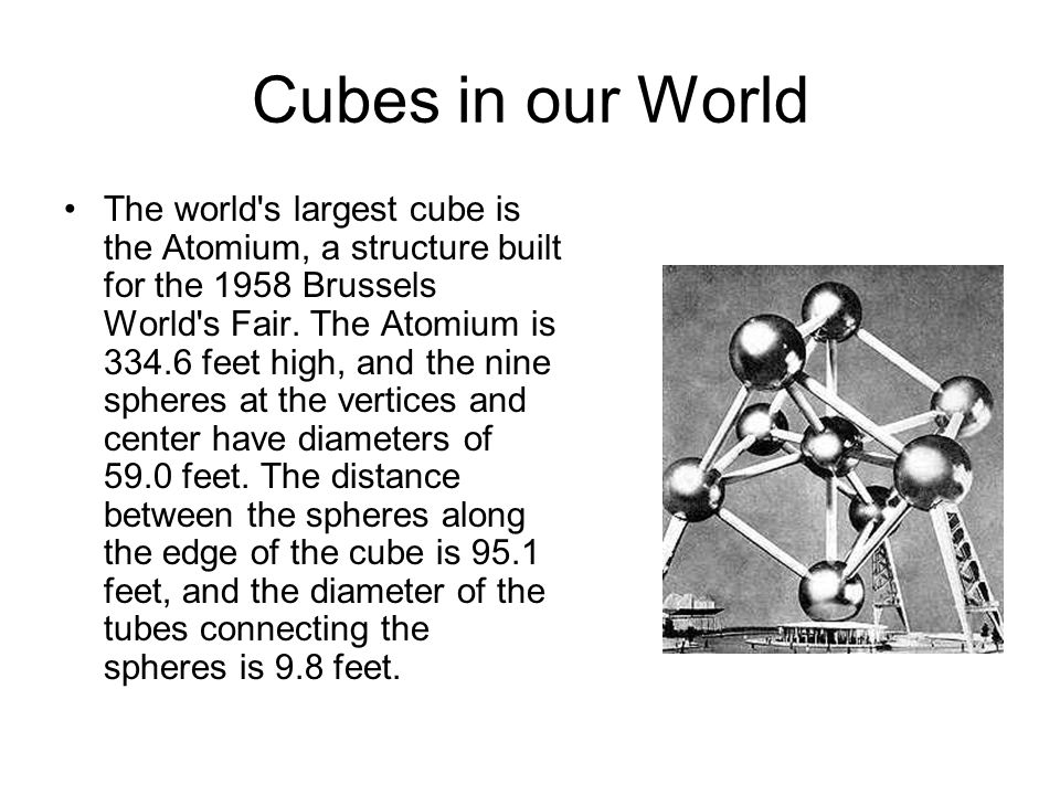 Cubes in our World
