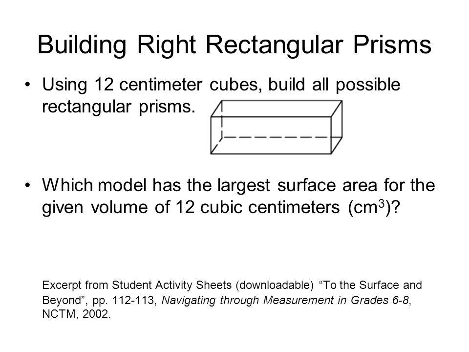 Building Right Rectangular Prisms