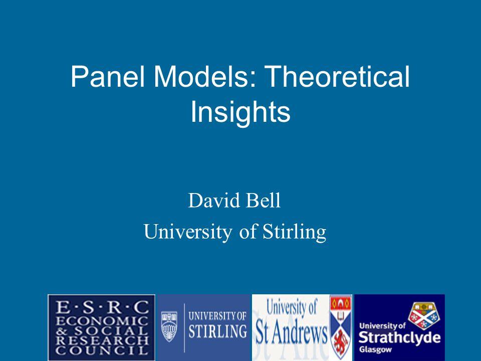David Bell University of Stirling