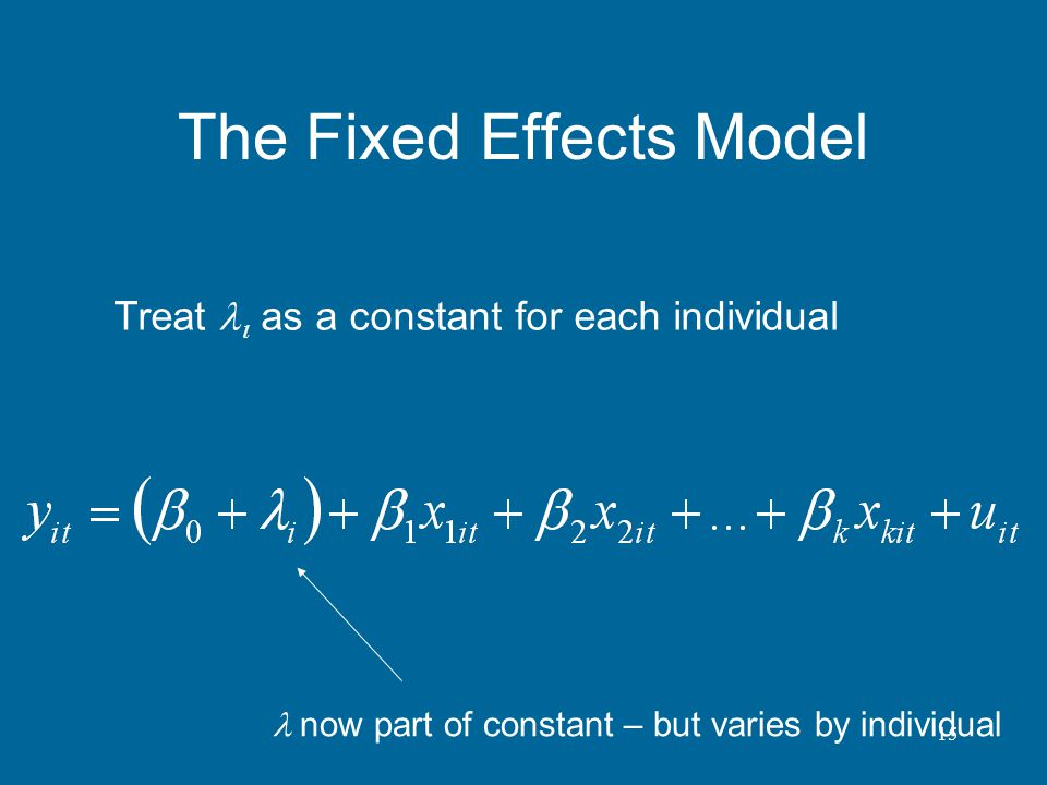 The Fixed Effects Model