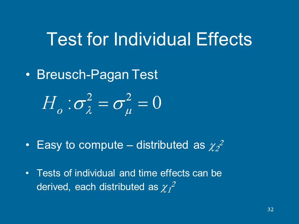 Test for Individual Effects