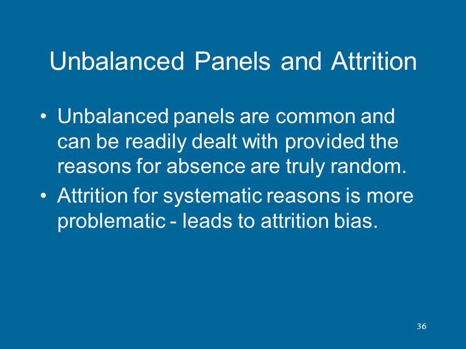 Unbalanced Panels and Attrition